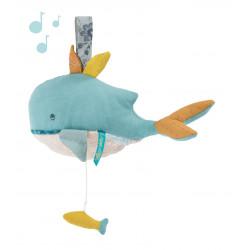 Peluche musicale Baleine -...