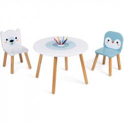 Table et 2 Chaises - Banquise