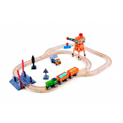 Circuit de train en bois -...