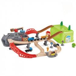 Circuit de train bois -...