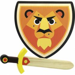 Set bouclier et épée Lion