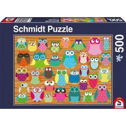 Puzzle - Les Hiboux - 500 pcs