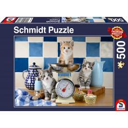 Puzzle 500 pcs - Chat dans...