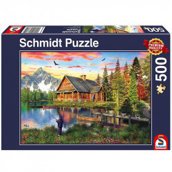 Puzzle - Pêche au lac - 500...