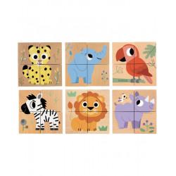 Cubes puzzles en bois -...