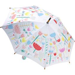 Parapluie bois Fleurs vert...