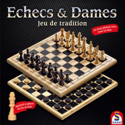 Echecs & Dames - Jeu en bois