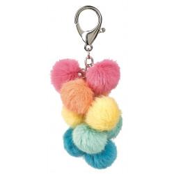 Porte-clés pompon