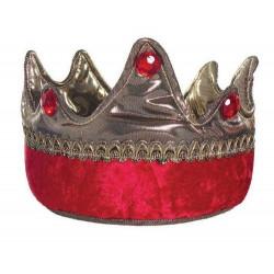 Couronne de roi rouge/or