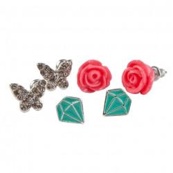 Boucles d Oreilles - Rose...