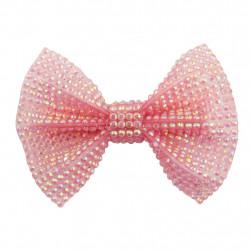 Barrettes - Pink Gem Bown