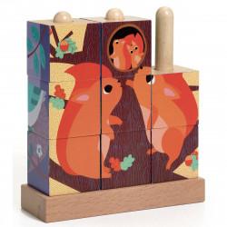 9 cubes puzzle bois - Puzz...