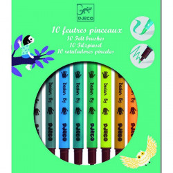 10 FEUTRES PINCEAUX - NOUVEAU