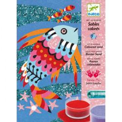 Sables colores - arc en ciel de poissons