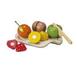 Fruits à découper - en bois recycle