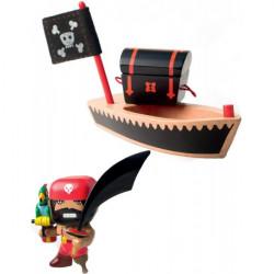 El loco et son bateau de pirtate