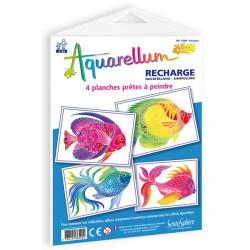 Recharge aquarellum junior poissons