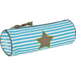 Trousse ronde starlight olive